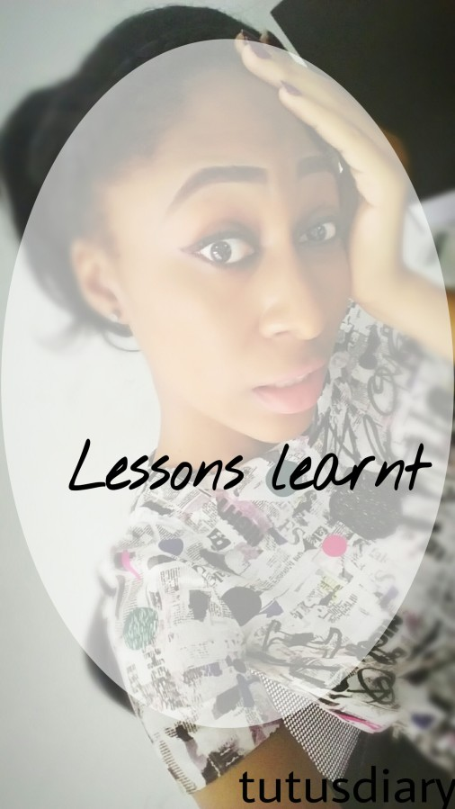 Lessons learnt…